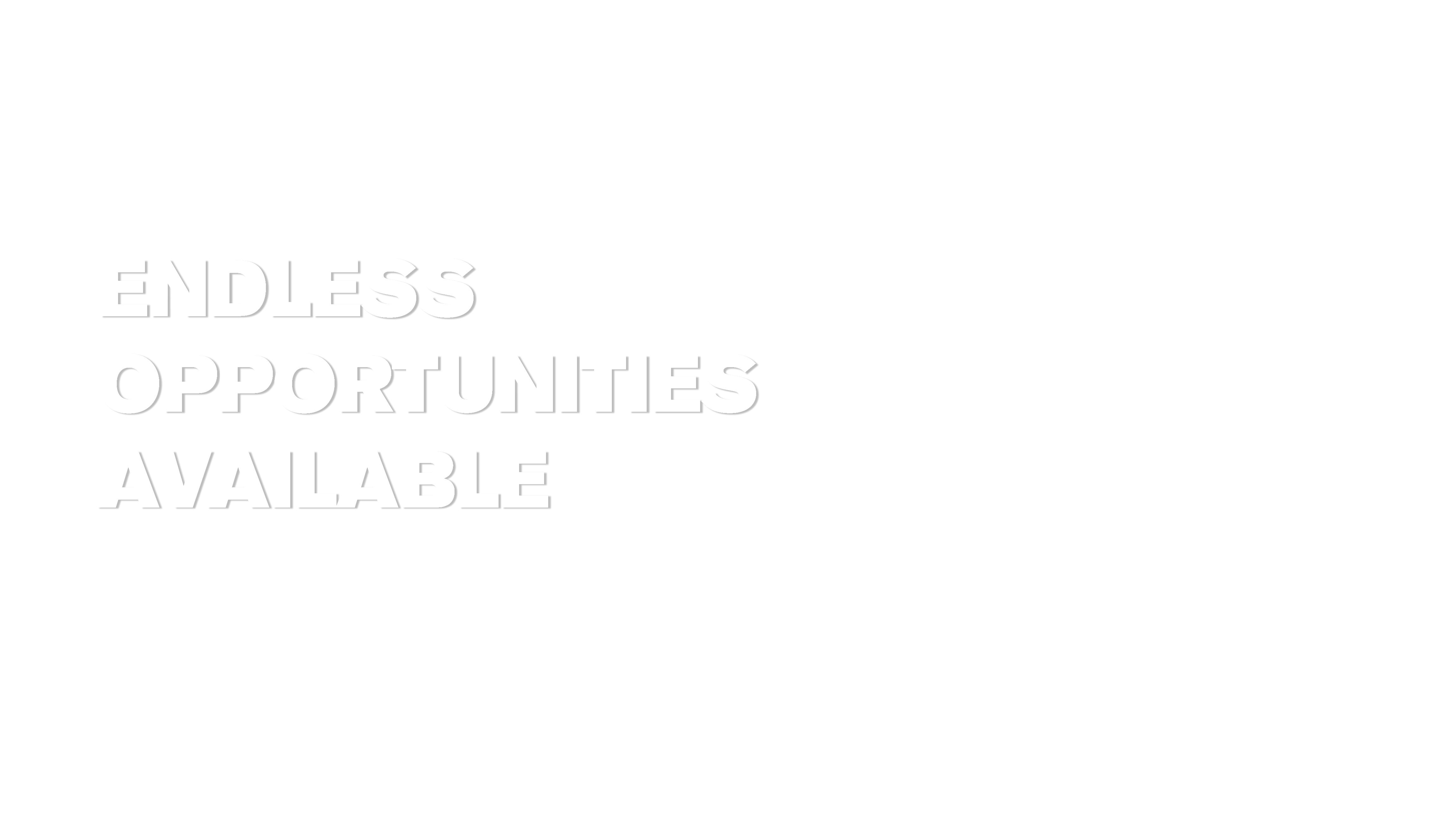 ENDLESS OPPORTUNITIES AVAILABLE